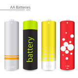 Vector AA batteries. EPS 8.0 version available Stock Image