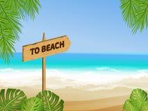 Vector aan strandteken Royalty-vrije Stock Afbeelding