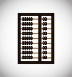 Vector abacus icon. Abacus icon isolated. Flat design. Vector button royalty free illustration