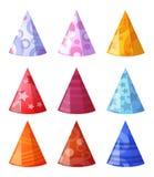 Vector Abbildung der Ansammlung Hüte lizenzfreie abbildung
