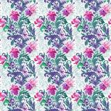 Vector Abbildung des nahtlosen Musters mit abstrakten Blumen vektor abbildung