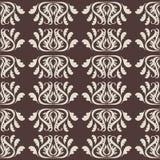 Vector Abbildung des nahtlosen Musters mit abstrakten Blumen Ausführliche vektorzeichnung Lizenzfreies Stockbild