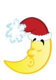 Vector Abbildung des Weihnachtsmondes Stockbilder
