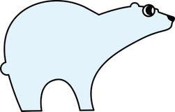 Vector Abbildung eines Eisbären lizenzfreies stockbild