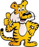 Vector Abbildung eines glücklichen und stolzen sibirischen Tigers Lizenzfreie Stockbilder