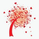 Vector Abbildung eines Liebesbaums. Lizenzfreies Stockfoto