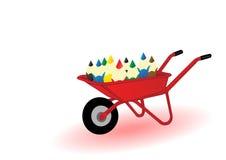 Vector Abbildung farbige pensils Stockfoto