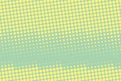 Vector Abbildung mit Platz für Text oder Zeichen Komisches punktiertes Muster Pop-Arten-Retrostil Lizenzfreie Stockfotos