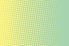Vector Abbildung mit Platz für Text oder Zeichen Komisches punktiertes Muster Pop-Arten-Retrostil Stockfoto