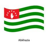 Vector Abkhazia flag. Vector illustration Vector Illustration