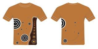 Vector aborigen del diseño de la camiseta del arte Fotos de archivo libres de regalías