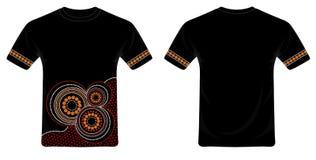 Vector aborigen del diseño de la camiseta del arte Imagen de archivo