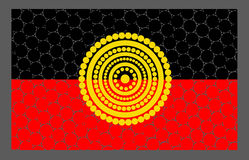 Vector aboriginal flag design. Illustration based on aboriginal style of dot flag Stock Image