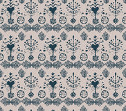 Vector absatrct vintage seamless pattern Royalty Free Stock Photo
