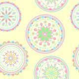 Vector abstact seamless pattern. With circles Stock Illustration