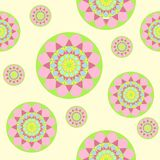 Vector abstact seamless pattern. With circles Royalty Free Illustration