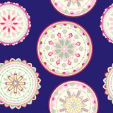 Vector abstact seamless pattern. With circles Vector Illustration