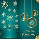 Vector Abstart Cyan Blue Christmas Invitation Card Royalty Free Stock Image
