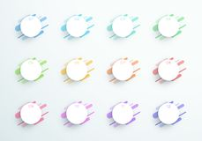 Free Vector Abstract 3d Circle Text Boxes Number 1 To 12 Stock Photos - 111440113