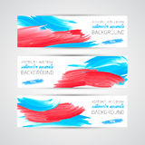 Vector Abstract acrylic painted brush banner. On white background vector illustration