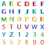 Vector abstract alphabet Royalty Free Stock Photo