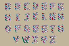 Vector abstract alphabet ( 10eps ) Stock Photo
