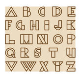 Vector abstract alphabet set Royalty Free Stock Image