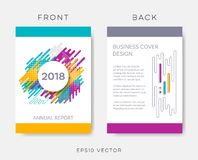Vector abstract annual report or brochure design vector illustration