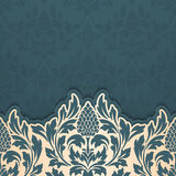 Vector abstract arabesque elements in indian mehndi style. Abstract arabesque floral vector illustration. Design element Stock Image