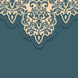 Vector abstract arabesque elements in indian mehndi style. Abstract arabesque floral vector illustration. Design element Stock Images