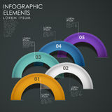 Vector abstract arch infographic elements. Modern 3d vector abstract arch infographic elements Stock Photo