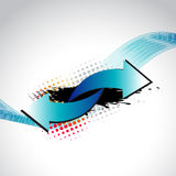 Vector abstract arrow. Background design illustration Stock Images