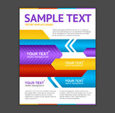 Vector Abstract Arrows Geometric Poster Template. White background Stock Illustration