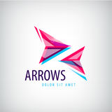 Vector abstract arrows icon, logo. Colorful sign Stock Images