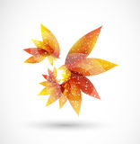 Vector  abstract autumn background. With  leaves Royalty Free Illustration