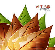 Vector abstract autumn leaf background. Vector nature seasonal abstract background stock illustration