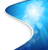 Vector abstract background. Blue  abstract sunburst background Royalty Free Stock Photography
