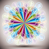 Vector abstract background. Vector abstract background with color arrows explosion. Easy to use as background or icon stock illustration