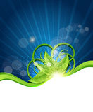 Vector abstract background. With green leaves Royalty Free Illustration