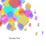 Vector Abstract Background. Abstract Colorful white background Stock Photography