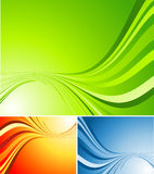 Vector abstract background. In three color variations Royalty Free Stock Photo