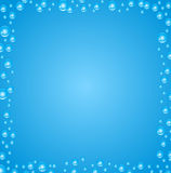 Vector abstract background. Air bubbles in water. Stock Photo