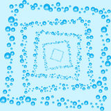 Vector abstract background. Air bubbles in water. Royalty Free Stock Image