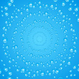 Vector abstract background. Air bubbles in water. Royalty Free Stock Images