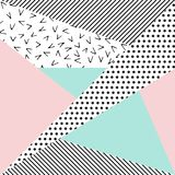Vector abstract background. Background with geometric shapes, the design of the 80s -  illustration. In retro memphis group style card Stock Images