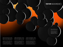 Vector abstract background with big circles Royalty Free Stock Photography