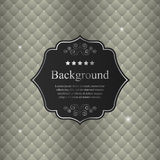 Vector abstract background with black crest Stock Photo