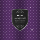 Vector abstract background with black crest.  Royalty Free Stock Photo