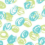 Vector abstract background with blue and green circles. EPS Royalty Free Illustration