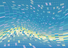 Vector abstract background, blue and green Stock Images